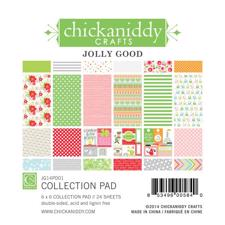 "Chickaniddy Crafs Paper Pad 6x6"" -  Jolly Good"