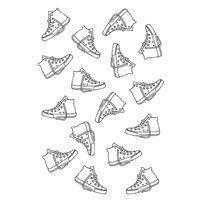 Clear Singles Stamp - Sneaker Background