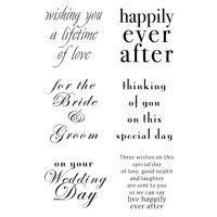 Clear Singles Stamp - wedding Words