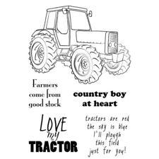Clear Singles Stamp - Tractor