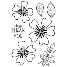 Clear Singles Stamp - Bold Blooms Amanda