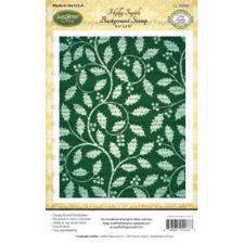 Just Rite Cling Stamp - Background  / Holly Swirls