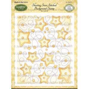 Just Rite Cling Stamp - Background  / Shooting Stars Stitched