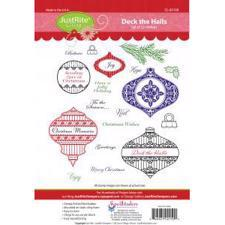 Just Rite Cling Stamps - Deck The Halls