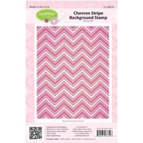 Just Rite Cling Stamp - Background / Chevron Stripe