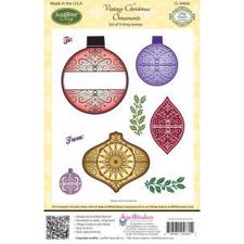 Just Rite Cling Stamps - Vintage Christmas Ornaments