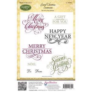 Just Rite Cling Stamps - Christmas Sentiments