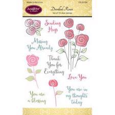 Just Rite Clear Stamp Set - Doodled Roses