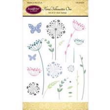 Just Rite Clear Stamp Set - Floral Silhouettes
