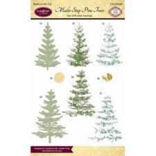 Just Rite Clear Stamp Set - Multi-Step Pine Trees