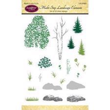 Just Rite Clear Stamp Set - Multi-Step Landscape Elements