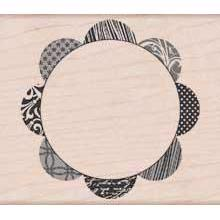 Wood Stamp - Background Scallop Circle
