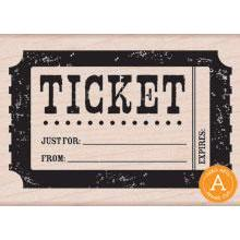 Wood Stamp - Ticket
