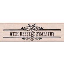 Wood Stamp - Deepest Sympathy