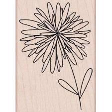 Wood Stamp - Pom Pom Flower