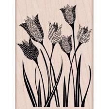 Wood Stamp - Newspaper Tulip