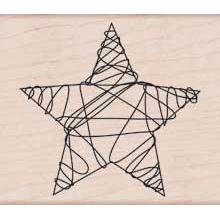 Wood Stamp - Wire Star (Holidays 2012)