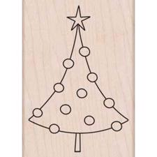 Wood Stamp - Circle Ornament Tree (Holidays 2012)