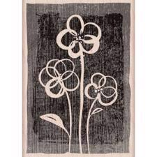 Wood Stamp - Three Brushed Flowers