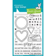 Lawn Fawn Clear Stamps - Pizza My Heart