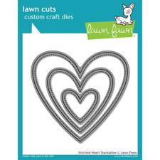 Lawn Cuts - Stitched Hearts Stackables - DIES