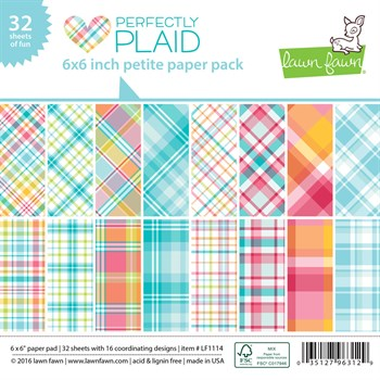 "Lawn Fawn Paper Pad 6x6"" -  Perfectly Plaid"