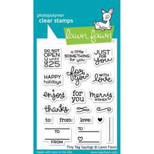 Lawn Fawn Clear Stamps - Tiny Tags Sayings
