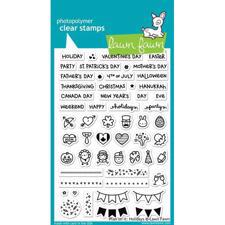 Lawn Fawn Clear Stamps - Plan on It / Holidays