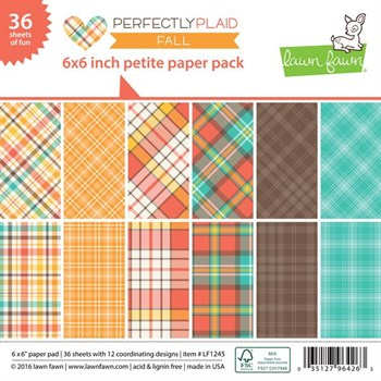 "Lawn Fawn Paper Pad 6x6"" -  Perfectly Plaid Fall"
