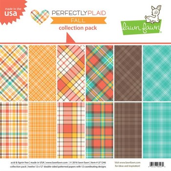 "Lawn Fawn Collection Pack 12x12"" -  Perfectly Plaid Fall"