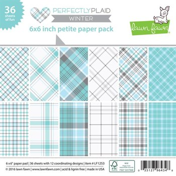 "Lawn Fawn Paper Pad 6x6"" -  Perfectly Plaid Winter"