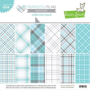 "Lawn Fawn Collection Pack 12x12"" -  Perfectly Plaid Winter"