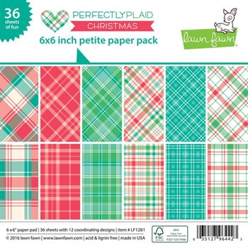 "Lawn Fawn Paper Pad 6x6"" -  Perfectly Plaid Christmas"