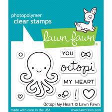 Lawn Fawn Clear Stamps - Octopi My Heart