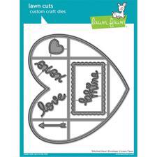 Lawn Cuts - Stitched Heart Envelope - DIES