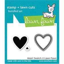 Lawn Fawn Clear Stamp & DIE - Heart Swatch