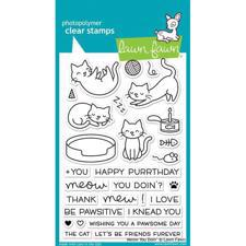 Lawn Fawn Clear Stamps - Meow You Doin