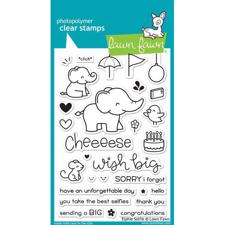 Lawn Fawn Clear Stamps - Elphie Selphie