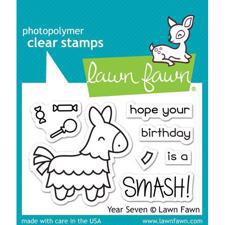 Lawn Fawn Clear Stamps - Year Seven / Birthday Smash