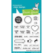 Lawn Fawn Clear Stamps - Push Here