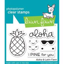 Lawn Fawn Clear Stamps - Aloha (ananas)