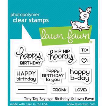 Lawn Fawn Clear Stamps - Tiny Tag Sayings / Birthday