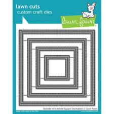 Lawn Cuts - Outside In Stitched Square Stackables (DIES)