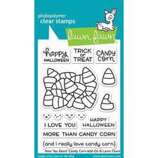 Lawn Fawn Clear Stamps - How You Bean? Candu Corn Add-On