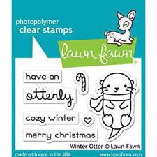 Lawn Fawn Clear Stamps - Winter Otter