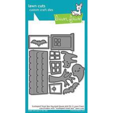 Lawn Cuts - Scalloped Treat Box / Haunted House Add-On - DIES