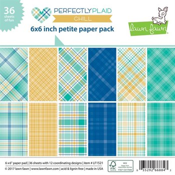 "Lawn Fawn Paper Pad 6x6"" -  Perfectly Plaid Chill"