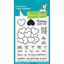 Lawn Fawn Clear Stamps - How you Bean? Conversation Heart Add-On