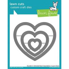 Lawn Cuts - Outside In Stitched Heart Stackables - DIES