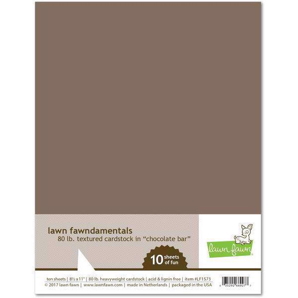 Lawn Fawn Cardstock - Chocolate Bar